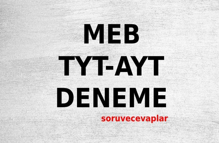 MEB Deneme Sınavı PDF