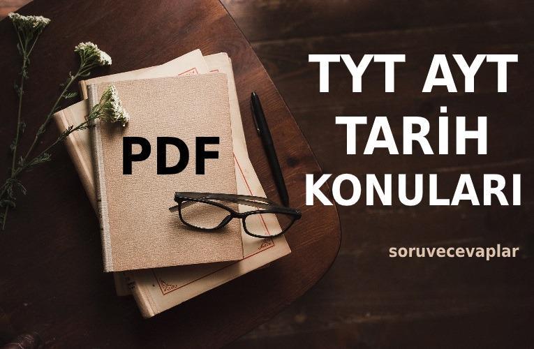 2021 TYT AYT Tarih Konuları PDF