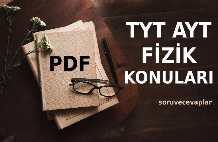 2021 TYT AYT Fizik Konuları PDF