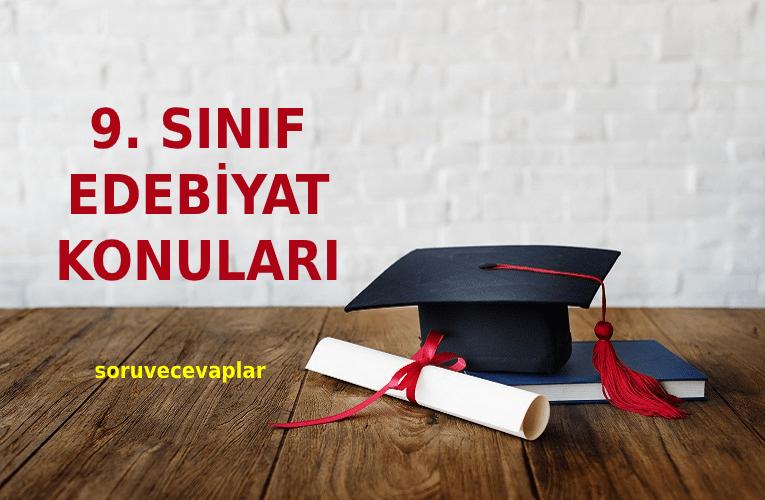 2021 9. Sınıf Türk Dili ve Edebiyatı Konuları ve Müfredatı MEB