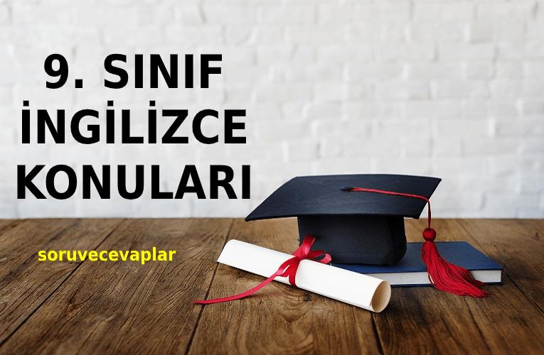 2021 9. Sınıf İngilizce Konuları ve Müfredatı MEB