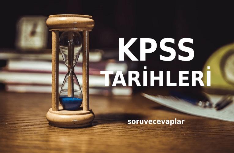 2020 KPSS Tarihleri ÖSYM - 2020 KPSS Ne Zaman