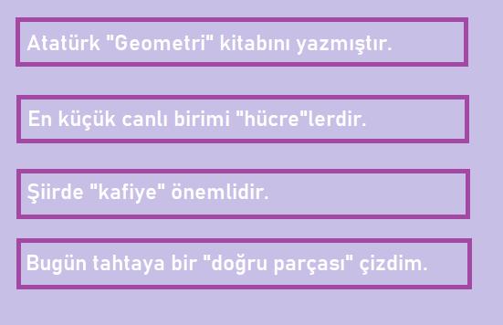 6c sinif 2 6. Sınıf Türkçe Sözcükte Anlam Test Çöz
