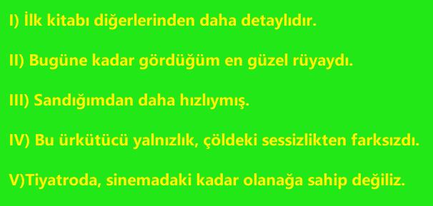 CUMLE 1 8. Sınıf Türkçe Cümlede Anlam Test Çöz