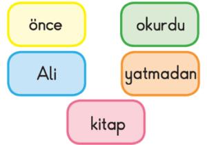 al 2. Sınıf Türkçe Cümle Bilgisi Test Çöz