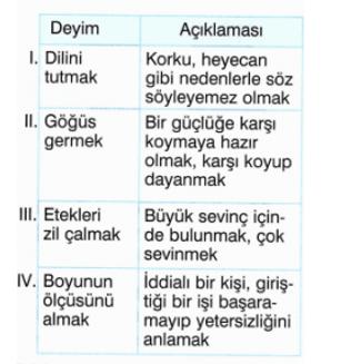 atasozu 6 4. Sınıf Türkçe Deyimler ve Atasözleri Test Çöz