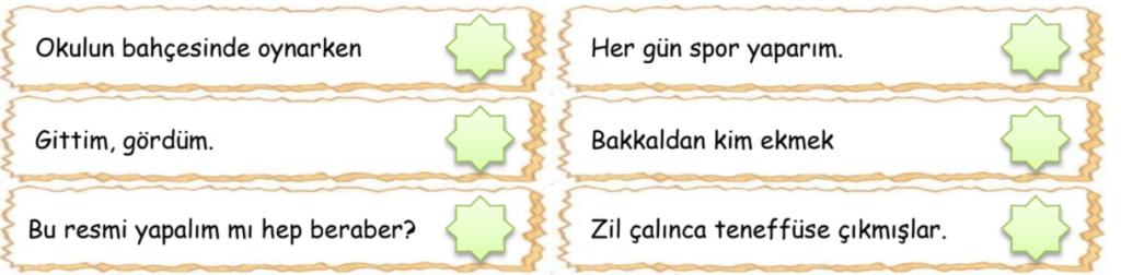 cumle bilgisi 2 1 4. Sınıf Türkçe Cümle Bilgisi Test Çöz