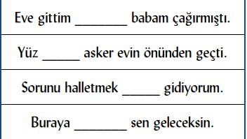 edat 2 4. Sınıf Türkçe Edat ve Bağlaç Test Çöz