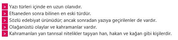 edebi 3 8. Sınıf Türkçe Edebi Türler ve Söz Sanatları Test Çöz