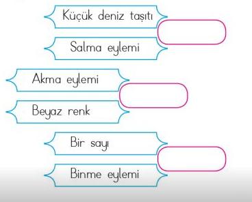 es sesli 2 1 4. Sınıf Türkçe Eş Sesli Kelimeler Test Çöz