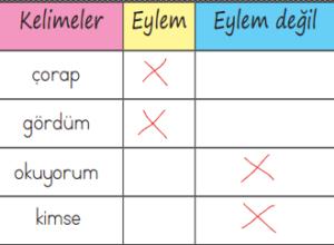 fiiller 5 2. Sınıf Türkçe Eylemler Test Çöz - 2. Sınıf Fiiller Testi