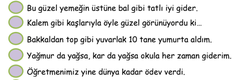 ifade 4. Sınıf Türkçe İfadeler Test Çöz