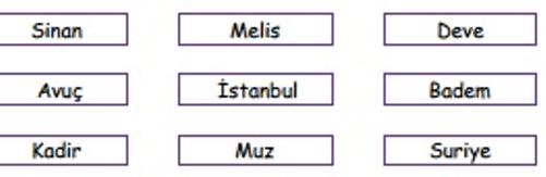 isim 5 4. Sınıf Türkçe Ad Test Çöz - 4. Sınıf isim testi