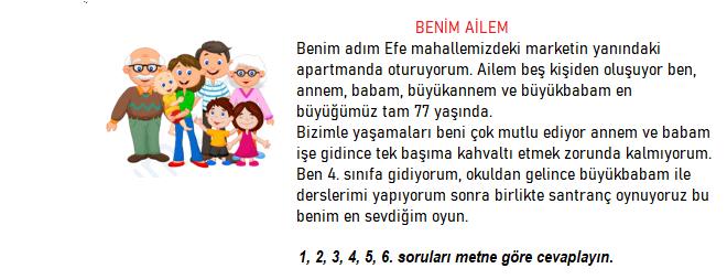 okudugunu anlama 1 3. Sınıf Türkçe Okuduğunu Anlama Test Çöz