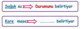 sifat 2 4. Sınıf Türkçe Sıfatlar Test Çöz