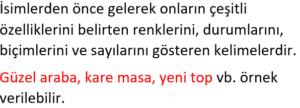 sifatlar 1 2. Sınıf Türkçe Sıfatlar Test Çöz