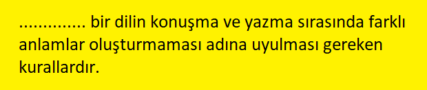 yazim 3 2 8. Sınıf Türkçe Yazım Kuralları Test Çöz