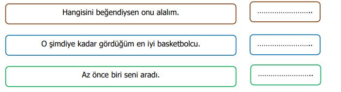 zamir 2 4. Sınıf Türkçe Zamirler Test Çöz