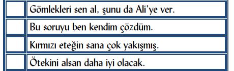 zamir 4 4. Sınıf Türkçe Zamirler Test Çöz