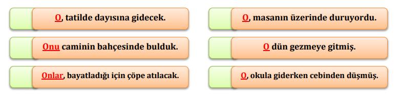 zamir 6 4. Sınıf Türkçe Zamirler Test Çöz