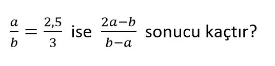 oran oranti 5 7. Sınıf Matematik Oran ve Orantı Test Çöz