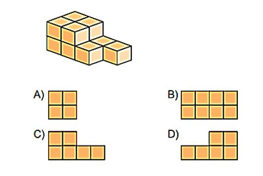sekil 2 7. Sınıf Matematik Cisimlerin Farklı Yönlerden Görünümleri Test Çöz