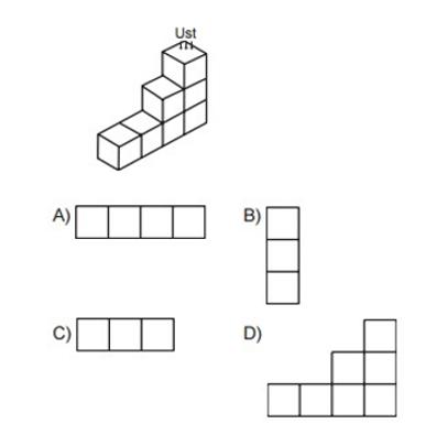 sekil 7. Sınıf Matematik Cisimlerin Farklı Yönlerden Görünümleri Test Çöz