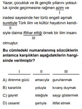 2020 turkce 2020 LGS Türkçe Soruları Çöz Online