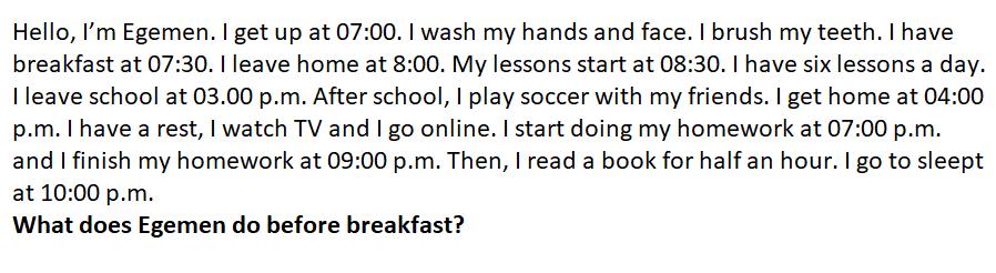 1 1 6. Sınıf İngilizce 1. Ünite Life Test Çöz