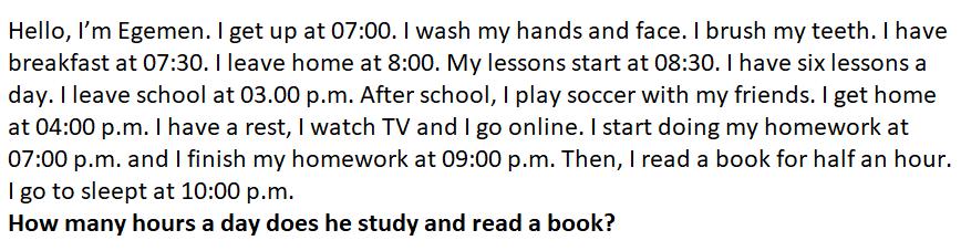 2. 6. Sınıf İngilizce 1. Ünite Life Test Çöz