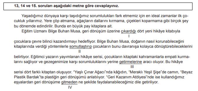 2018 turkce 13 2018 LGS Türkçe Soruları Çöz Online