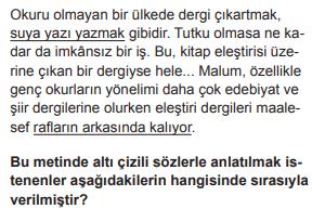 2018 turkce 2018 LGS Türkçe Soruları Çöz Online
