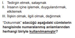 2019 turkce 2019 LGS Türkçe Soruları Çöz Online