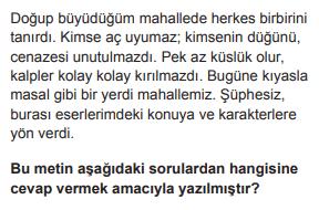 2019 turkce 14 2019 LGS Türkçe Soruları Çöz Online