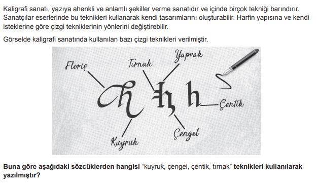 2019 turkce 4 2019 LGS Türkçe Soruları Çöz Online