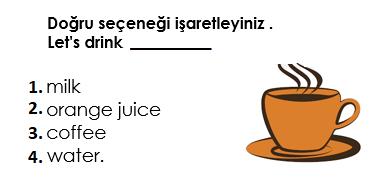 6 14 4. Sınıf İngilizce 10. Ünite Food And Drinks Test Çöz
