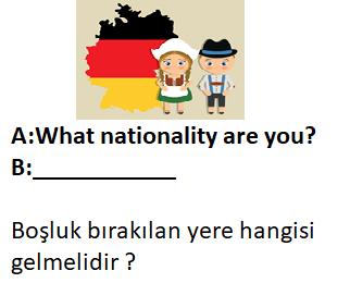 9 7 4. Sınıf İngilizce 2. Ünite Nationality Test Çöz