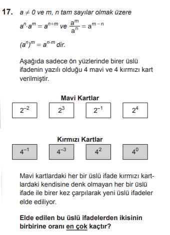 mat 2019 17 2019 LGS Matematik Soruları Çöz Online