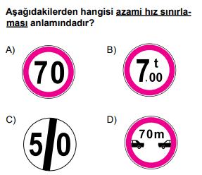 trafik 18 2 2021 Mayıs Ayı Ehliyet Sınav Soruları Çöz