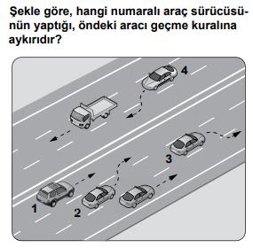 trafik 21 1 2021 Nisan Ayı Ehliyet Sınav Soruları Çöz