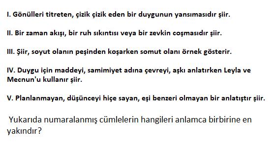 1 10 2021 TYT Türkçe Cümle Yorumu Test Çöz-1