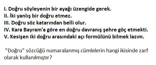 1 16 2021 TYT Türkçe Zarf Testi Çöz-1