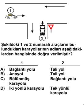 19 1 Elektronik Ehliyet Sınavı 3.Deneme Soruları Çöz 2021