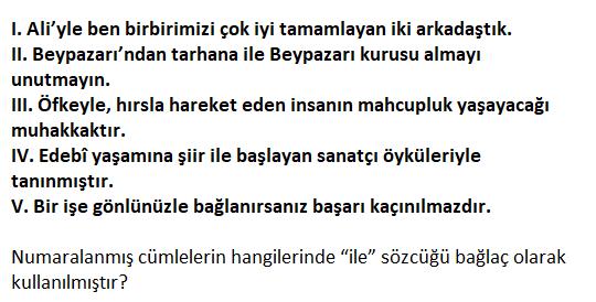 1 2021 TYT Türkçe Edat-Bağlaç Testi Çöz-1