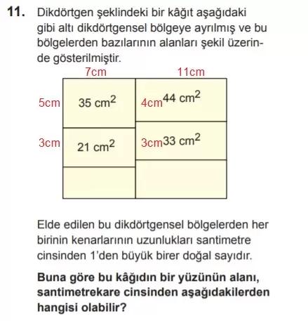 2021 lgs matematik sorulari 11 2021 LGS Çıkmış Matematik Soruları Çöz - PDF