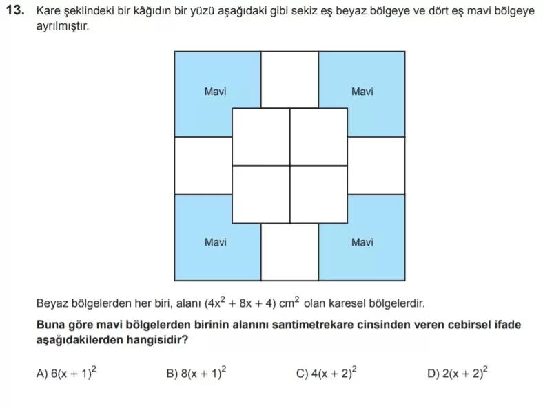 2021 lgs matematik sorulari 13 2021 LGS Çıkmış Matematik Soruları Çöz - PDF