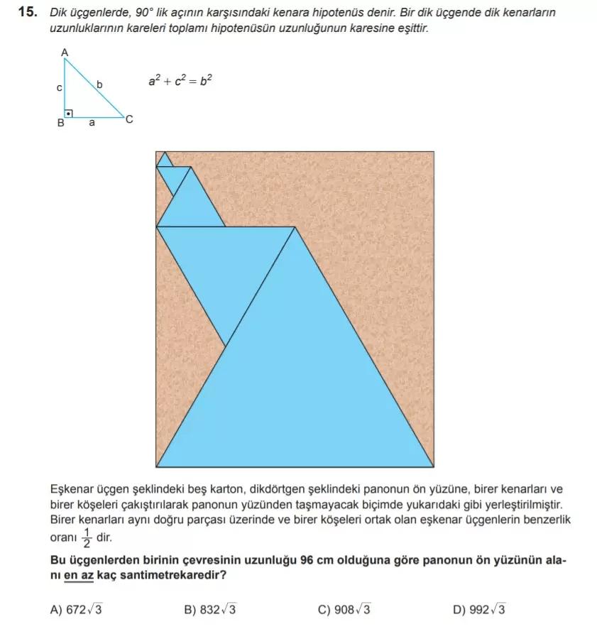 2021 lgs matematik sorulari 15 2021 LGS Çıkmış Matematik Soruları Çöz - PDF