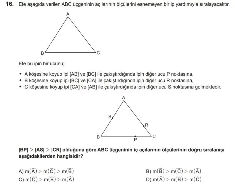 2021 lgs matematik sorulari 16 2021 LGS Çıkmış Matematik Soruları Çöz - PDF