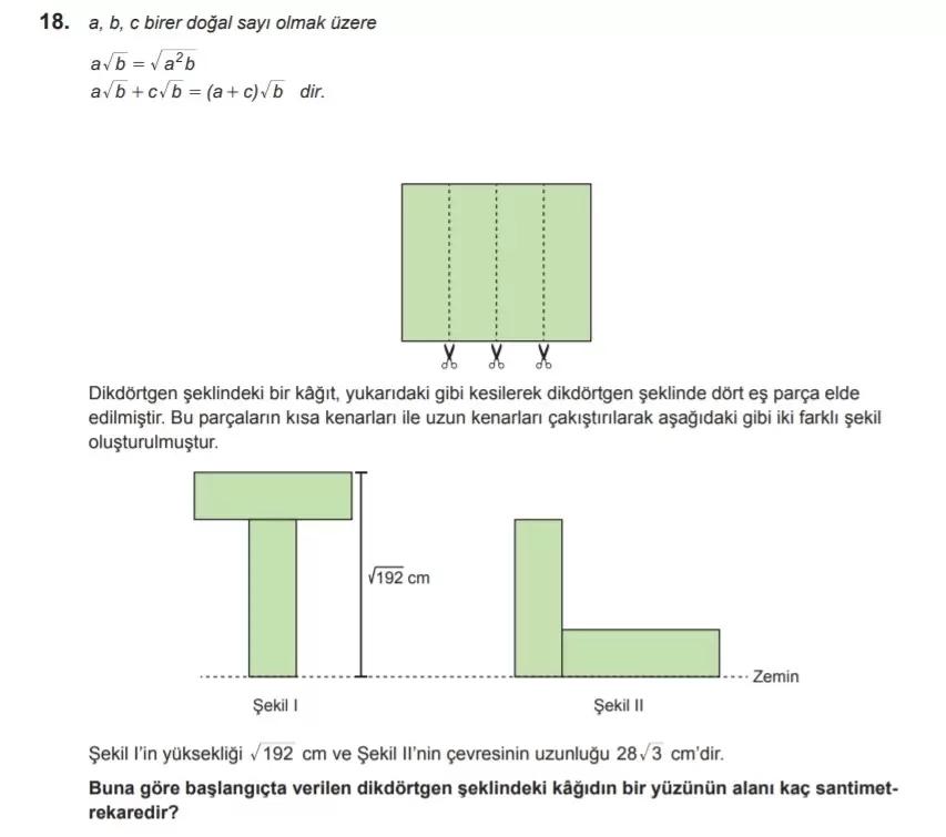 2021 lgs matematik sorulari 18 2021 LGS Çıkmış Matematik Soruları Çöz - PDF