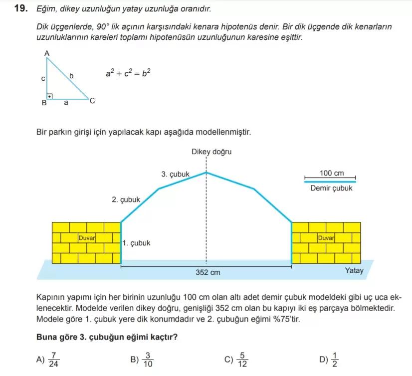 2021 lgs matematik sorulari 19 2021 LGS Çıkmış Matematik Soruları Çöz - PDF